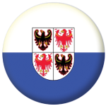 Trentino Flag 58mm Button Badge